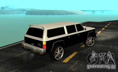 FBI Rancher Tuning для GTA San Andreas вид слева