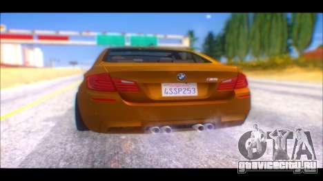BMW M5 F10 2014 для GTA San Andreas вид слева