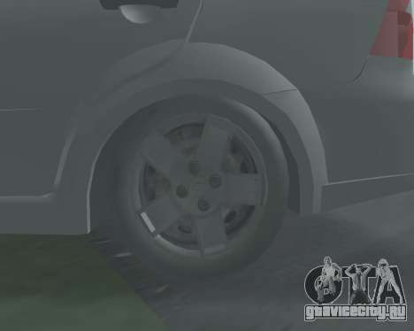 Chevrolet Aveo Armenian для GTA San Andreas вид изнутри