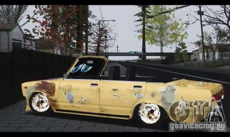 ВАЗ 2107 Бедняга для GTA San Andreas вид слева