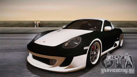 Ruf RK Coupe (987) 2007 HQLM для GTA San Andreas вид справа