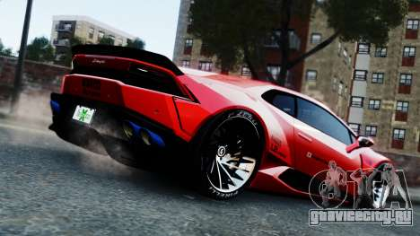 Lamborghini Huracan LB для GTA 4 вид слева