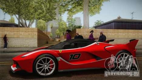 Ferrari FXX-K 2015 для GTA San Andreas вид справа