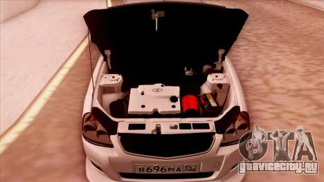 Lada Priora Autozvuk v.1 для GTA San Andreas вид сзади
