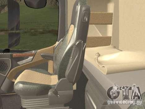 Mercedes-Benz Actros Mp4 6x4 v2.0 Steamspace v2 для GTA San Andreas салон