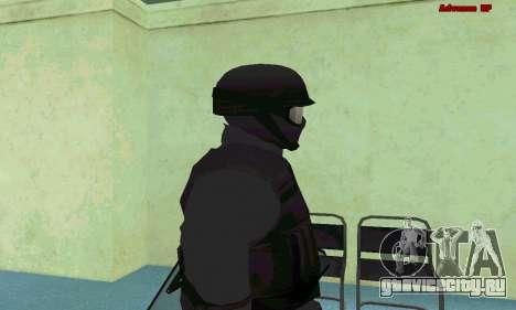 Скин SWAT из GTA 5 (PS3) для GTA San Andreas пятый скриншот