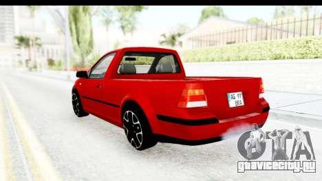 Volkswagen Golf Mk4 Pickup для GTA San Andreas вид слева