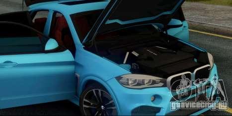 BMW X6M F86 для GTA San Andreas вид изнутри