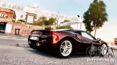 Ferrari 488 GTB 2016 для GTA 4 вид сбоку