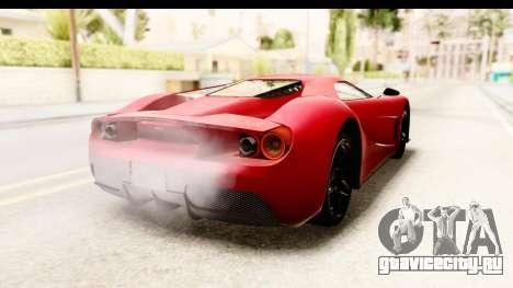 GTA 5 Vapid FMJ IVF для GTA San Andreas вид сзади слева