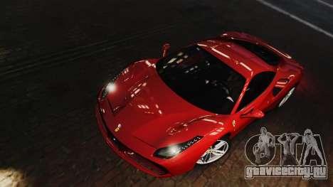Ferrari 488 GTB 2016 для GTA 4 вид изнутри