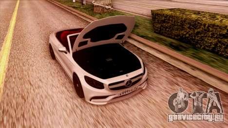 Mercedes-Benz S63 для GTA San Andreas вид сзади