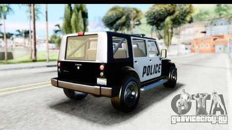 Canis Mesa Police для GTA San Andreas вид слева
