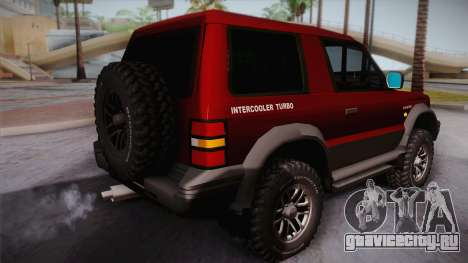 Mitsubishi Pajero 3-Door для GTA San Andreas вид слева