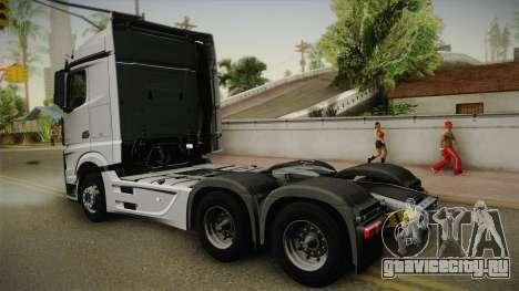 Mercedes-Benz Actros Mp4 6x4 v2.0 Steamspace v2 для GTA San Andreas вид слева