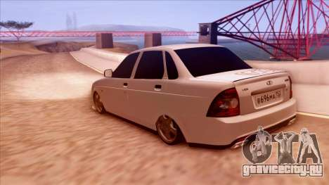Lada Priora Autozvuk v.1 для GTA San Andreas вид слева