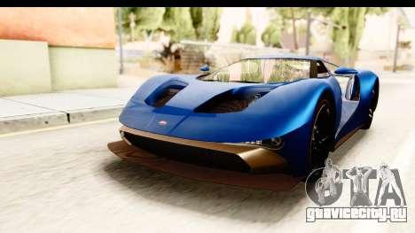 GTA 5 Vapid FMJ SA Style для GTA San Andreas вид сзади слева