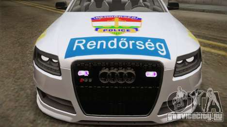 Audi RS6 Hungarian Police для GTA San Andreas вид сзади слева
