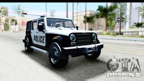 Canis Mesa Police для GTA San Andreas вид сзади слева