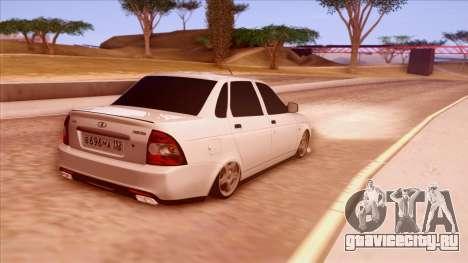 Lada Priora Autozvuk v.1 для GTA San Andreas вид сзади слева