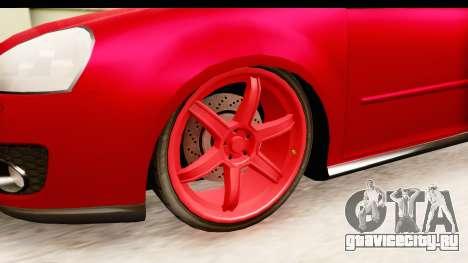 Volkswagen Golf GTI для GTA San Andreas вид сзади