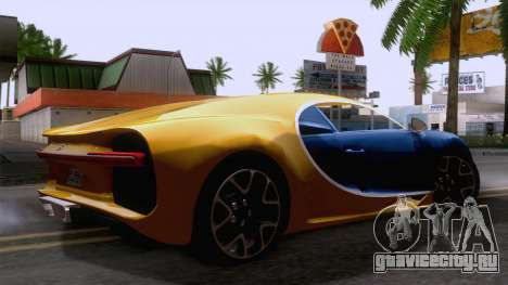Bugatti Chiron 2017 v2.5 для GTA San Andreas вид сзади слева