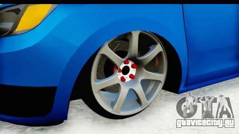 Dacia Sandero 2013 для GTA San Andreas вид сзади