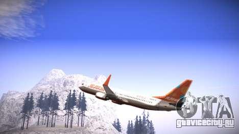 Boeing 737-800 Jeju Air для GTA San Andreas вид слева