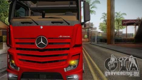 Mercedes-Benz Actros Mp4 6x4 v2.0 Bigspace для GTA San Andreas вид сзади слева