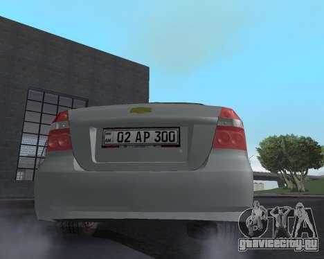 Chevrolet Aveo Armenian для GTA San Andreas двигатель