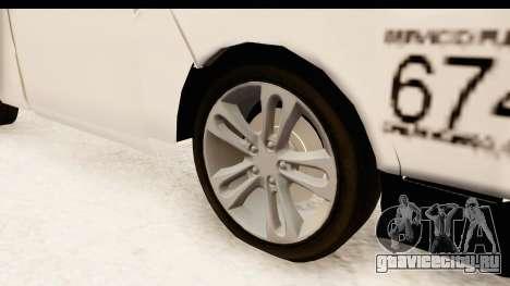 Nissan NV350 Urvan Comercial Mexicana для GTA San Andreas вид сзади