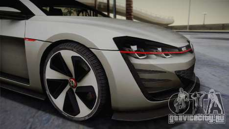 Volkswagen Golf Design Vision GTI для GTA San Andreas вид сзади слева