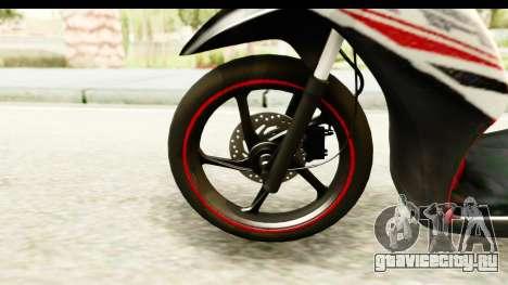 Yamaha Mio GT Standart для GTA San Andreas вид сзади