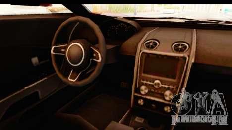 GTA 5 Vapid FMJ IVF для GTA San Andreas вид изнутри