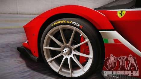 Ferrari FXX-K 2015 PJ для GTA San Andreas вид сзади слева