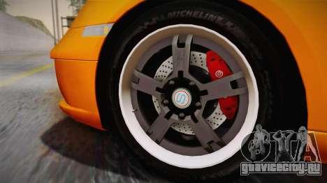 Ruf RK Coupe (987) 2007 IVF для GTA San Andreas вид сзади слева