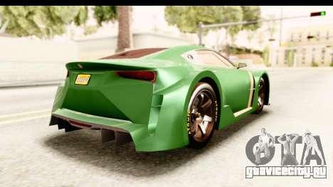 GTA 5 Emperor ETR1 для GTA San Andreas вид слева