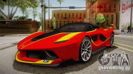 Ferrari FXX-K 2015 для GTA San Andreas вид сбоку