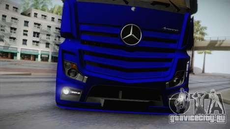 Mercedes-Benz Actros Mp4 v2.0 Tandem Steam для GTA San Andreas вид сбоку