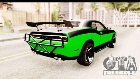 Dodge Challenger F&F 7 для GTA San Andreas вид справа