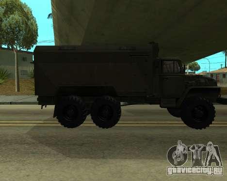 Ural 4320 Armenian для GTA San Andreas вид сзади