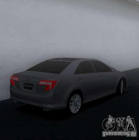 Toyota Camry 2013 USA для GTA San Andreas вид слева