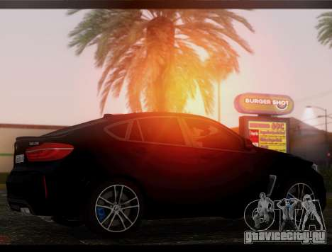 BMW X6M BULKIN SAMP EDITION для GTA San Andreas вид сзади слева