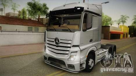 Mercedes-Benz Actros Mp4 6x4 v2.0 Steamspace v2 для GTA San Andreas