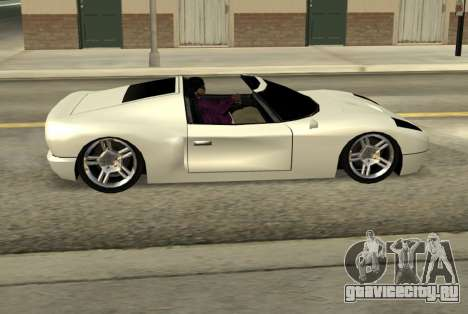 Bullet Spyder для GTA San Andreas вид слева
