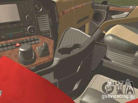 Mercedes-Benz Actros Mp4 6x4 v2.0 Steamspace v2 для GTA San Andreas вид сверху