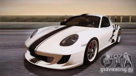 Ruf RK Coupe (987) 2007 HQLM для GTA San Andreas вид сзади