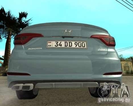 Hyundai Sonata Armenian для GTA San Andreas вид сзади слева