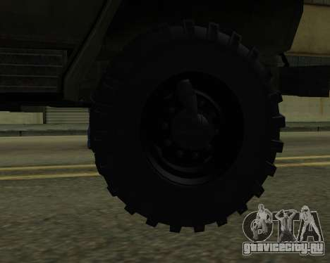 Ural 4320 Armenian для GTA San Andreas вид снизу