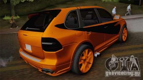 Porsche Cayenne 2007 Tuning для GTA San Andreas вид слева